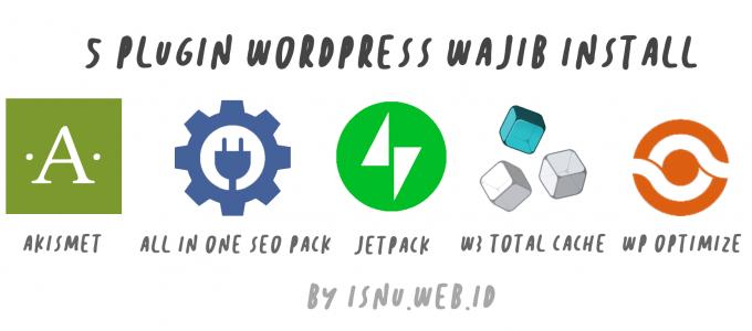 5 plugin wordpress wajib install